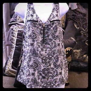 Express flower print Hudson tank blouse sz medium
